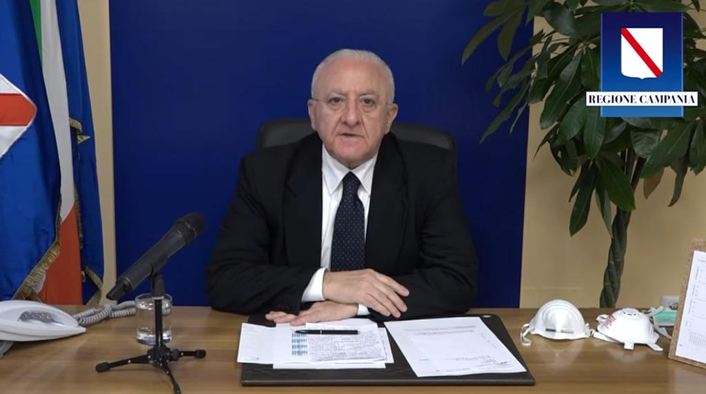 Coronavirus : aggiornamenti del Presidente Vincenzo De Luca- 27 marzo 2020