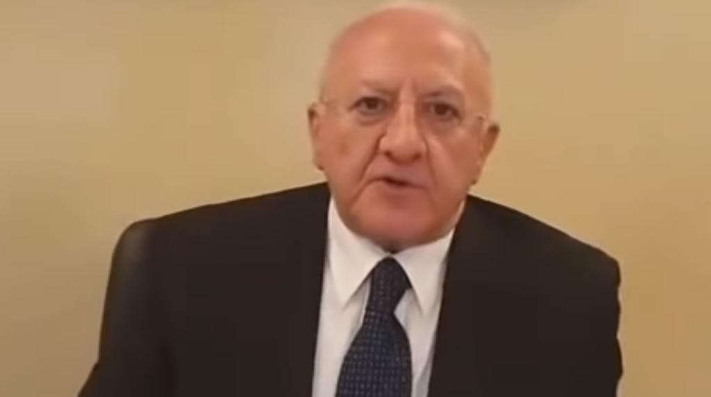 """Coronavirus, l'appello del Presidente della Regione Campania, Vincenzo De Luca : """"Rispettate le regole"""""""