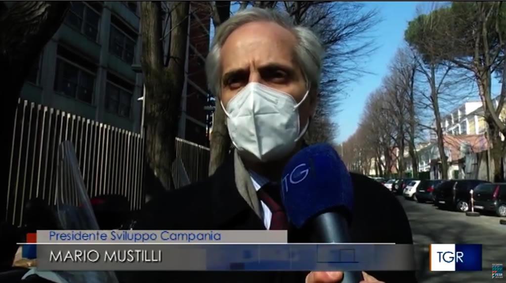 Presidente Mario Mustilli su Campania prima in Italia per emissione minibond – 26-02-2021 TG3